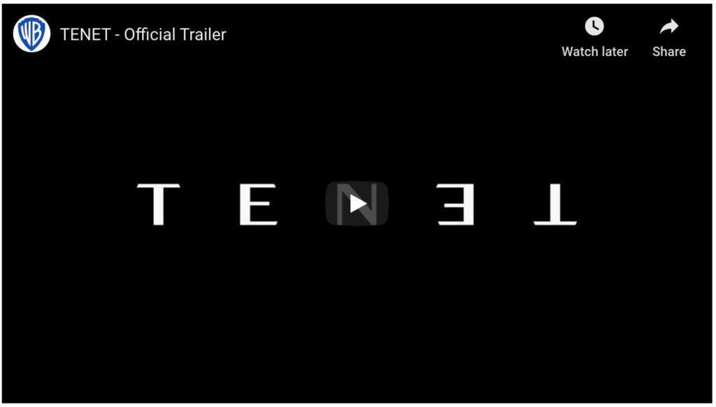 tenet official trailer